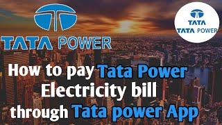 How to pay Tata Power Electricity bill in Mumbai | टाटा पॉवर लाइट बिल कैसे  भरे ऍप से | light bill
