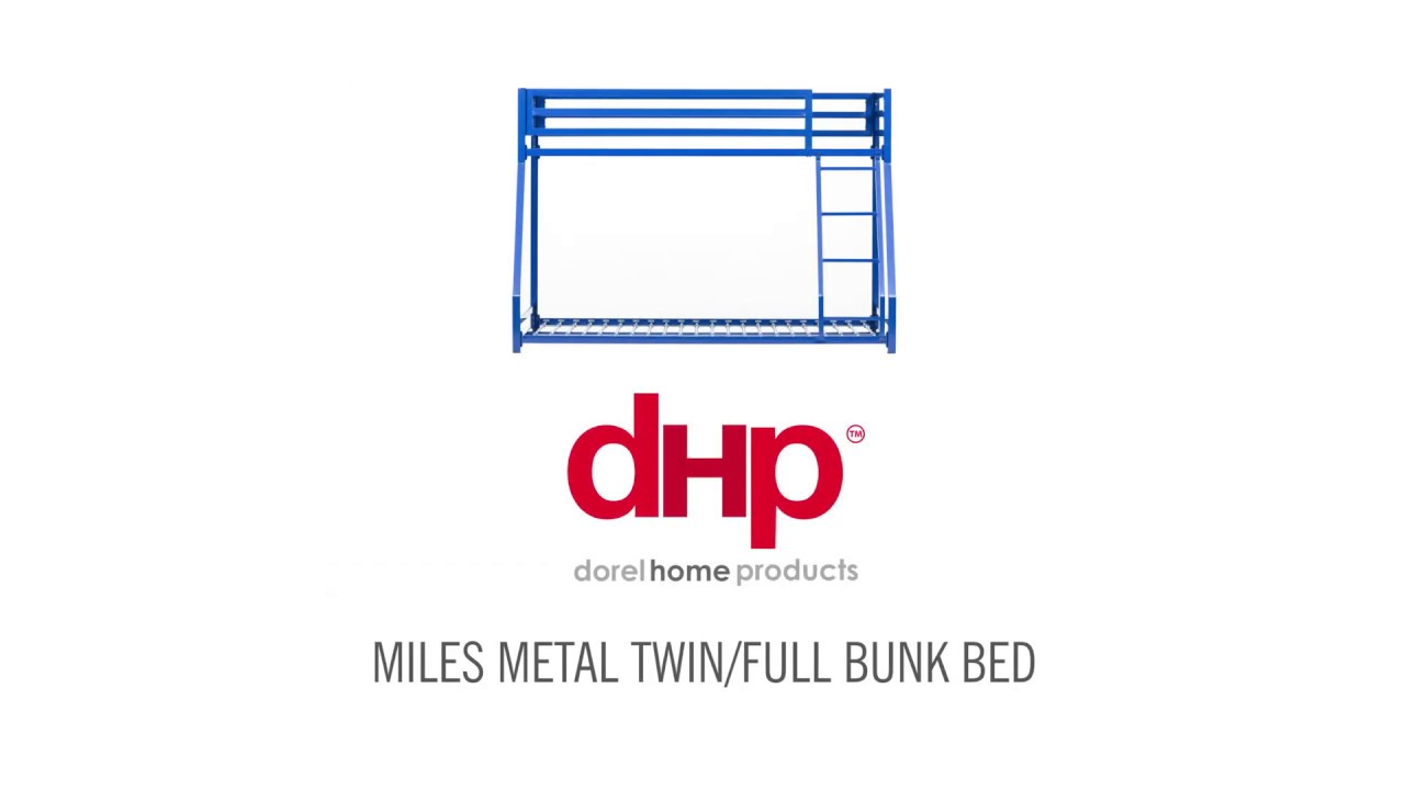Dhp Miles Metal Twinfull Bunk Bed Youtube