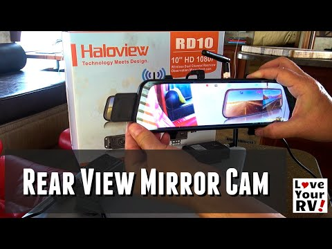Haloview RD10 Rear View Mirror Mounted RV Camera System | Wireless Rear Observation Cam + Dash Cam