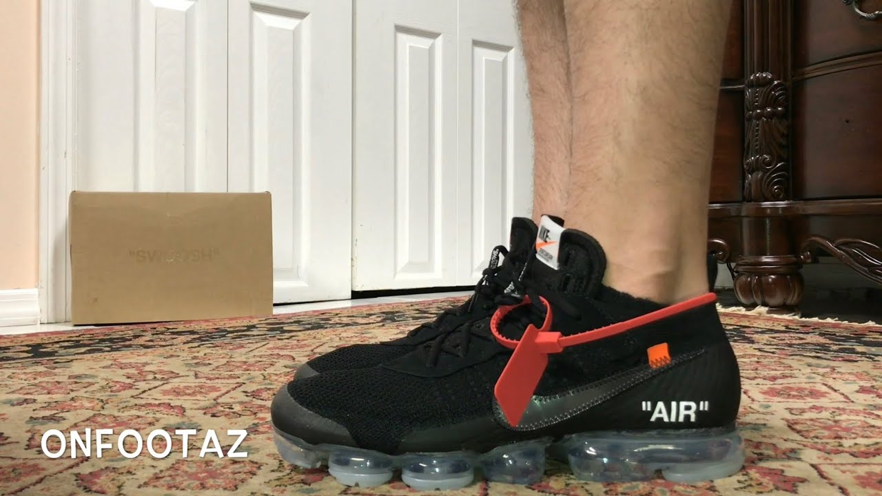 59df663e59 Nike Air VaporMax OFF WHITE The Ten 2018 Part 2 Black On Foot - YouTube