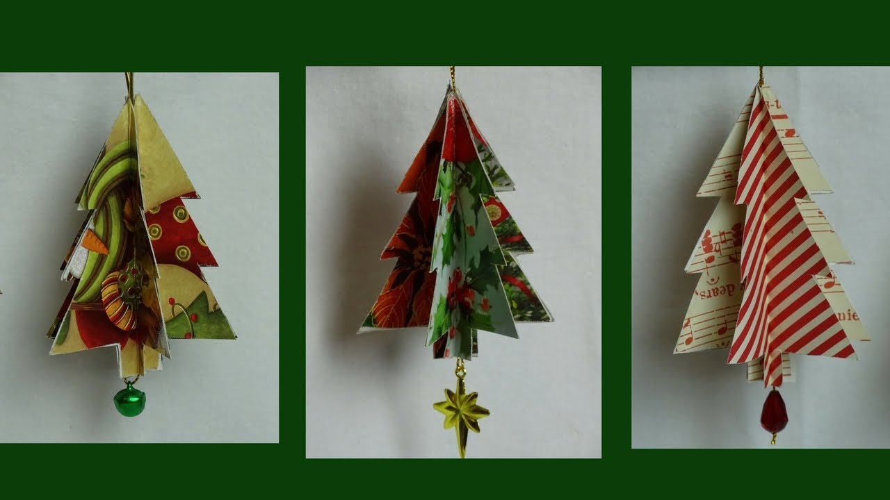 Recycled Christmas Card Tree Ornament- with yoyomax12 ...