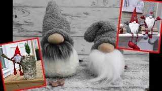 Scandinavian Tomte Nisse Christmas Gnome DIY Tutorial. Christmas Crafts to Make and Sell