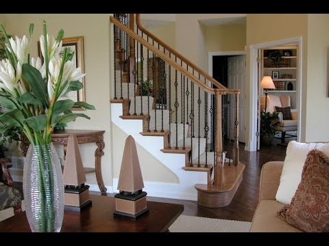 Wrought Iron Stair Railing Interior Designs - YouTube
