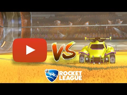 Challenging youtubers to 1v1s in Rocket League thumbnail