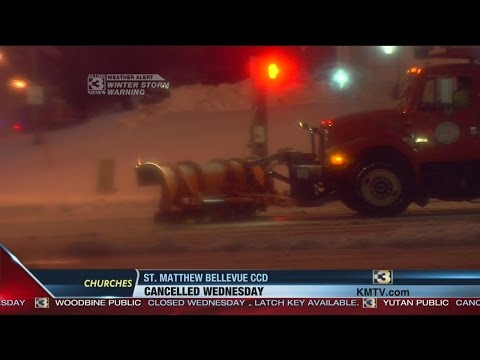Omaha city crews work all night to clear roads