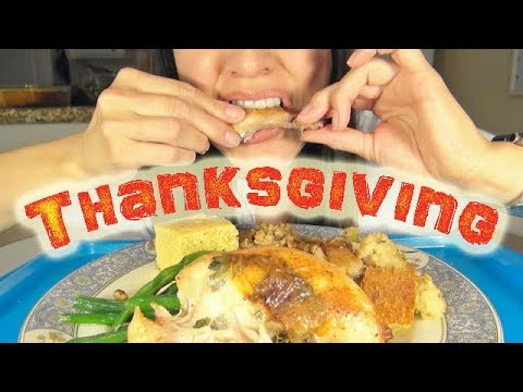 Thanksgiving Special * ASMR Mukbang Eating Show * Home-Cooked American Food
