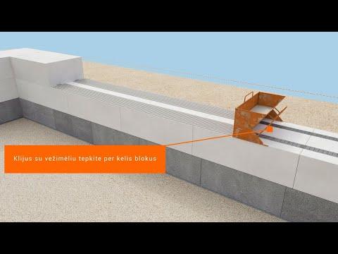 Bauroc blokeliai be papildomo sienų apšiltinimo. Mūrijimo instrukcija.