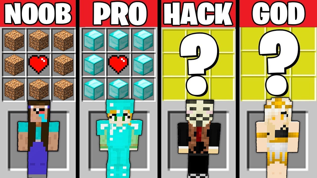 Minecraft Battle: GIRL CRAFTING CHALLENGE - NOOB vs PRO vs HACKER vs GOD in Minecraft Animation