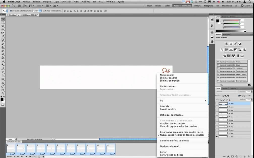 Photoshop CS5 - Video y Animación - Secuencia de imágenes - YouTube