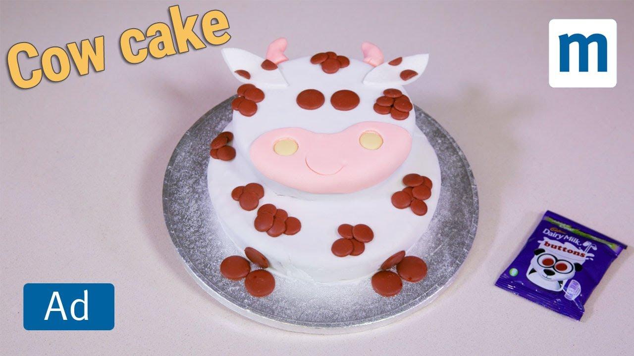 Cow Print Cake Decorating Cadbury Youtube