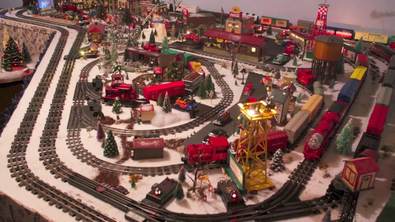 1950s era lionel christmas layout