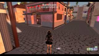 セカンドライフで遊郭、赤線建築のまねをして町を作ってみました。