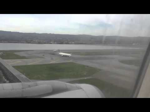 United Airlines B737-800 Landing At SFO From ATL