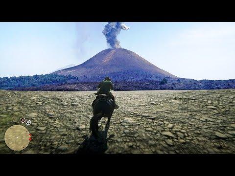إكتشفت منطقة بركانية سرية في ريد ديد ريدمبشن 2   RDR 2 Volcanic Ground