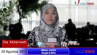 Asia Dalam Tekanan, IHSG Berpotensi Turun Terus, Vibiznews 20 Agustus 2013