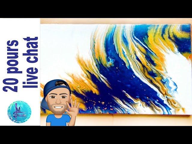 20 pours, different techniques, a lot of color and a LIVE CHAT video premiere