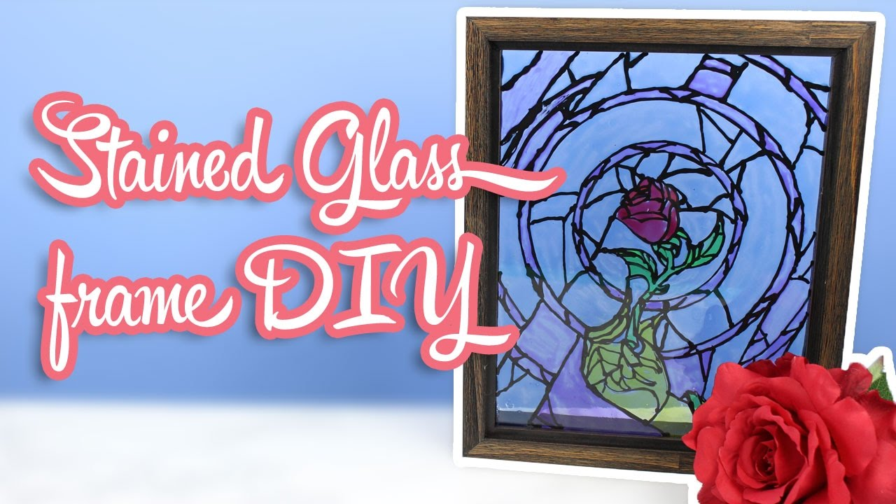 Beauty And The Beast Stained Glass Frame Diy Beauty And The Beast