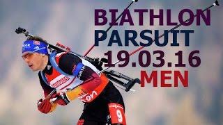BIATHLON 2016 / World CUP 9 /PARSUIT/ MEN/19 of March/ Russia / Khanty-Mansiysk