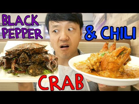 CHILI Crab & ORIGINAL Black Pepper Crab In Singapore
