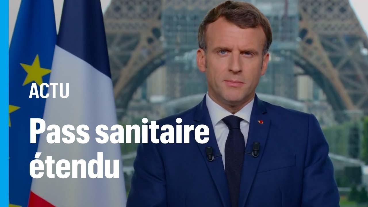フランスで行われているワクチンパスポートに反対する運動の様子