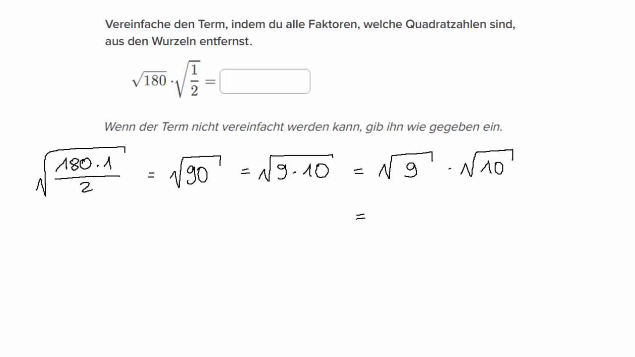 Vereinfachen von Termen mit Quadratwurzeln: Keine Variablen - YouTube