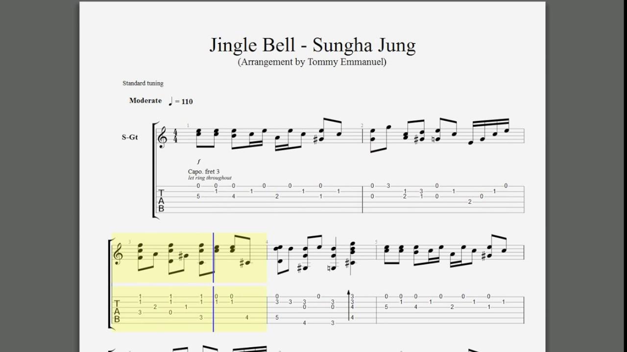 christmas carol jingle bells sungha jung guitar tabs youtube. Black Bedroom Furniture Sets. Home Design Ideas