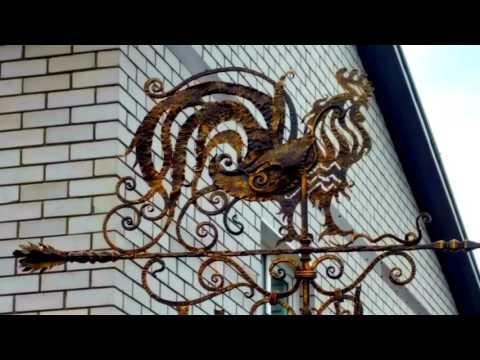 Флюгер кованый петух ковка из металла красивый дизайн купить