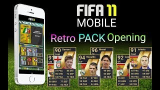 FIFA11 Android RETRO pack opening |Открываю ретро пакцы!!!