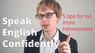 """Speak English Confidently"" 5 tips for no more nervousness @doingenglish"