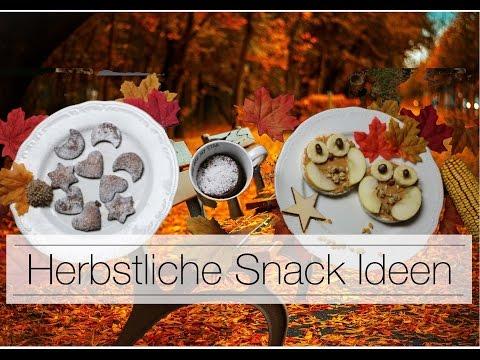DIY HERBST SNACK-IDEEN | Einfache Herbst Rezepte | Schnell und Lecker