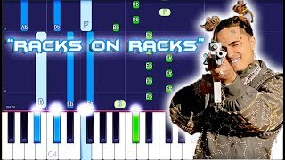 Lil Pump - Racks On Racks Piano Tutorial EASY (Piano Cover) Video