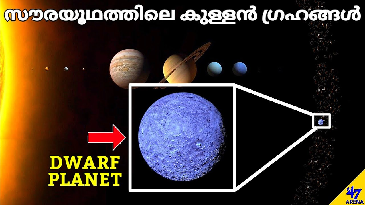Solar System Dwarf Planets Explained in Malayalam | Malayalam Space Fact Science | 47 ARENA