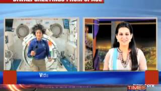 Sunita Williams sends out Diwali greetings from space