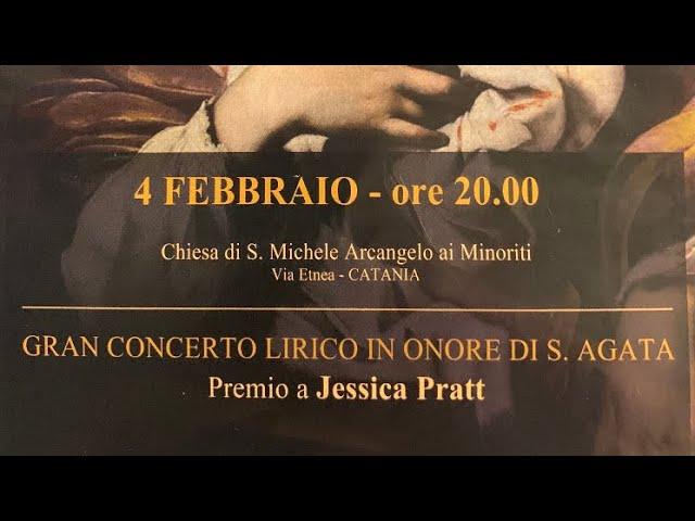 Gran Concerto in onore di Sant'Agata 2020 - Coro Lirico Siciliano - Premio a Jessica Pratt