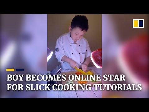 Boy's slick cooking tutorials shoot him to online stardom in China