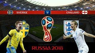 SVERIGE vs ENGLAND | VM 2018 i Ryssland | Kvartsfinal | Simulerad i FIFA 18