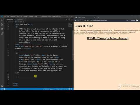 Inline HTML Classes - HTML 5 Tutorial | AH Academy | thumbnail