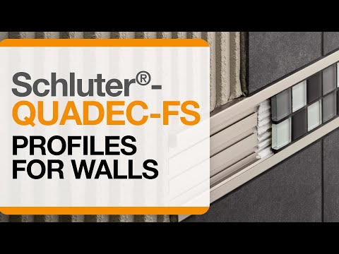 How to install tile accent trim on walls: Schluter®-QUADEC-FS profile
