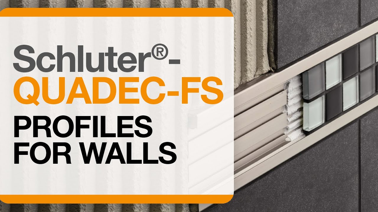 How To Install Tile Accent Trim On Walls Schluter Quadec Fs Profile