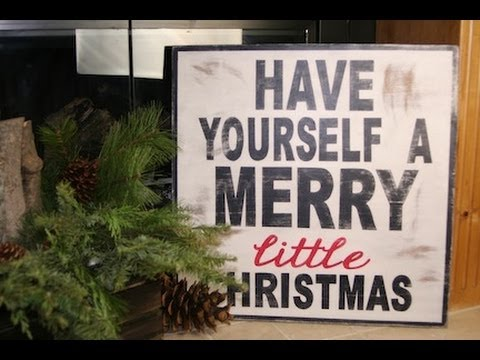 diy wooden christmas sign showmecute youtube - Christmas Wooden Signs