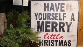 Diy: Wooden Christmas Sign | Showmecute