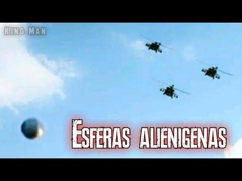 Helicopteros se encuentran con esferas extraterrestres