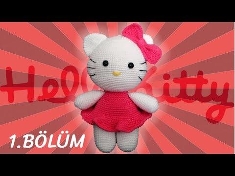 Amigurumi Hello Kitty Kedi Yapımı 1. Bölüm - Kafa Yapımı, Örme Bebek