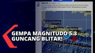 Gempa Bermagnitudo 5,3 Guncang Blitar, Jawa Timur
