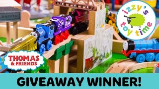 Thomas Train GIVEAWAY WINNER! Thomas and Friends with Brio and KidKraft! Toy Trains 4 Kids