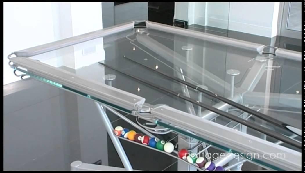 G 1 Glass Top Pool Table