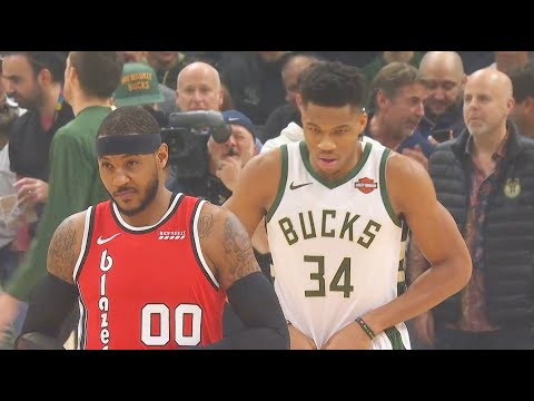 Carmelo Anthony Crazy Highlights vs Giannis & Shows He Belongs In The NBA (VIDEO)