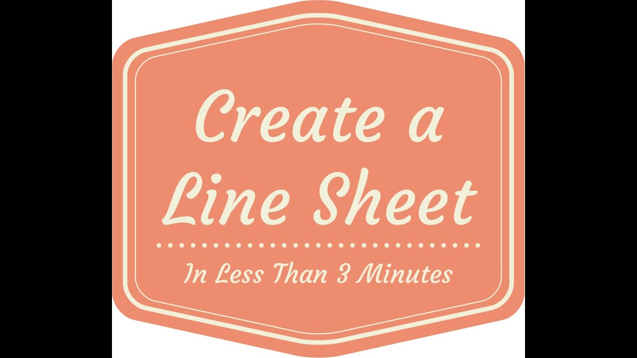 Problem Solved! - Line Sheets - YouTube