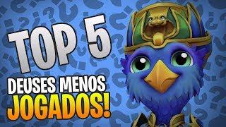 Video MEU TOP 5 DEUSES MENOS JOGADOS! | SMITE download MP3, 3GP, MP4, WEBM, AVI, FLV Juli 2018