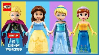 ♥ Wrong Body LEGO Disney Princess Belle Cinderella Frozen Elsa Anna Finger Family Nursery Rhymes